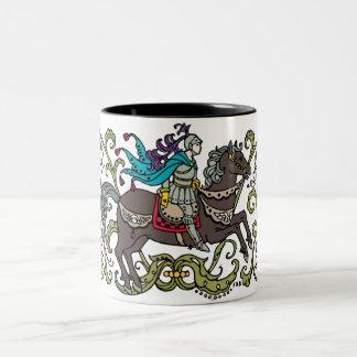 Vintage Knight Two-Tone Coffee Mug