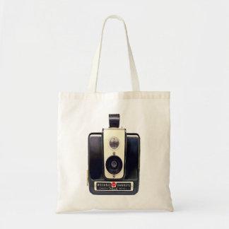 Vintage kodak brownie camera tote bag