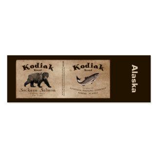 Vintage Kodiak Salmon Label Business Cards
