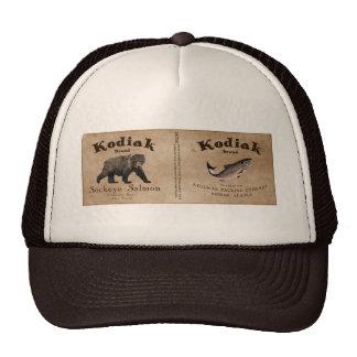 Vintage Kodiak Salmon Label Mesh Hat