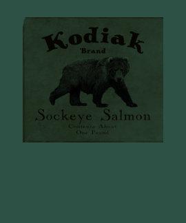 Vintage Kodiak Salmon Label T-shirts