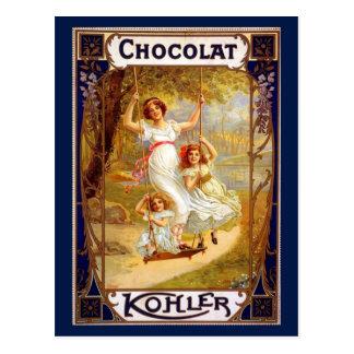 Vintage Kohler Chocolat Advertisement Postcard