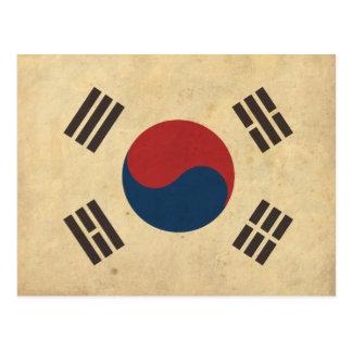 Vintage Korea Flag Postcard
