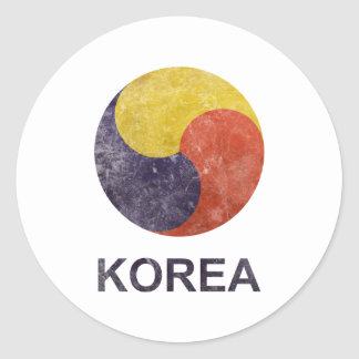 Vintage Korea Round Stickers