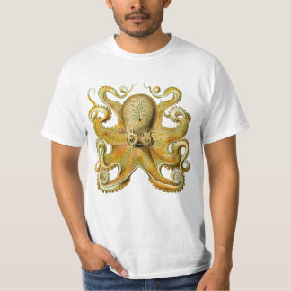 Vintage Kraken, Giant Octopus by Ernst Haeckel T-Shirt