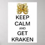 Vintage Kraken, Octopus Gamochonia, Ernst Haeckel Poster