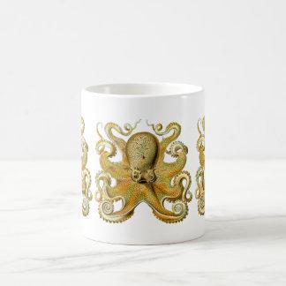 Vintage Kraken, pulpo Gamochonia, Ernst Haeckel Taza De Café