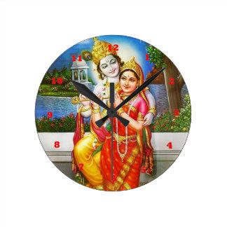 VINTAGE Krishna India Canada Round Clock
