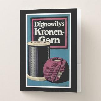 Vintage Kronengard Yarn Ad Pocket Folder