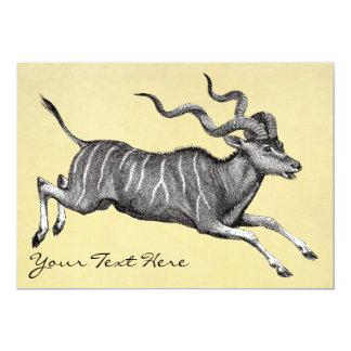 """Vintage Kudu Invitation 5"""" X 7"""" Invitation Card"""