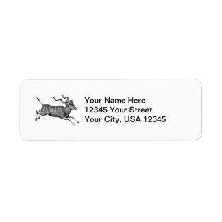 Vintage Kudu Return Address Label