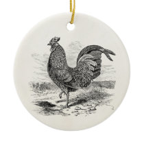 Vintage Kulm Fowl Rooster Chicken - Chickens Hen Ceramic Ornament
