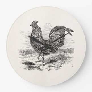 Vintage Kulm Fowl Rooster Chicken - Chickens Hen Large Clock
