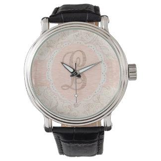 Vintage L floral Reloj De Mano