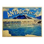 Vintage la Antártida South Pole Tarjetas Postales