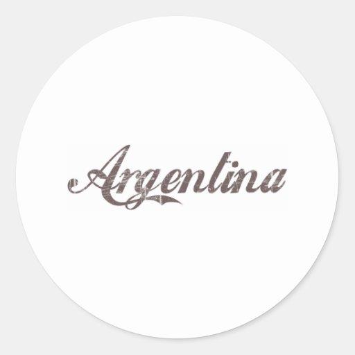 Vintage la Argentina Etiqueta Redonda