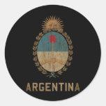 Vintage la Argentina Etiquetas Redondas