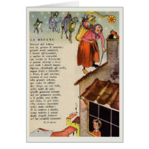 Vintage La Befana Italian Christmas Epiphany Card