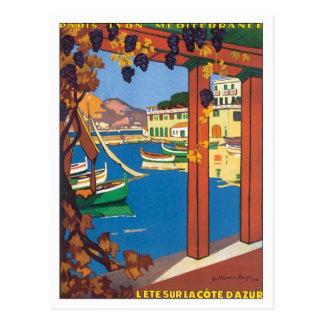 Vintage La Cote D azur Post Card
