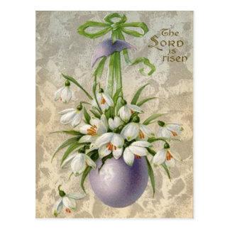 Vintage la cruz Pascua del huevo de señor Has Postal