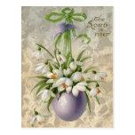 Vintage la cruz Pascua del huevo de señor Has Rise Postales