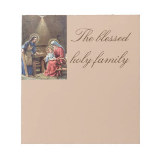 vintage la familia santa, Jesucristo, José, Maria, Bloc De Papel