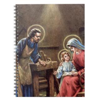 vintage la familia santa, Jesucristo, José, Maria Libro De Apuntes