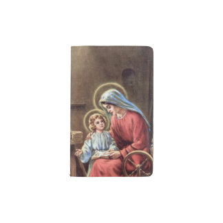 vintage la familia santa, Jesucristo, José, Maria, Funda Para Libreta Y Libreta Pequeña Moleskine