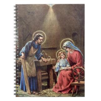 vintage la familia santa, Jesucristo, José, Maria, Libros De Apuntes