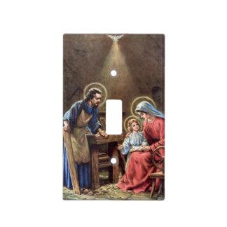 vintage la familia santa, Jesucristo, José, Maria, Tapas Para Interruptores