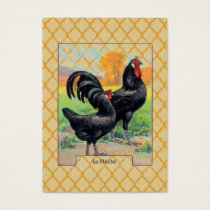 Vintage La Fleche Chicken Business Card