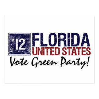 Vintage la Florida del Partido Verde del voto en 2 Tarjeta Postal