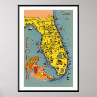 Vintage la Florida, los E.E.U.U. - Impresiones