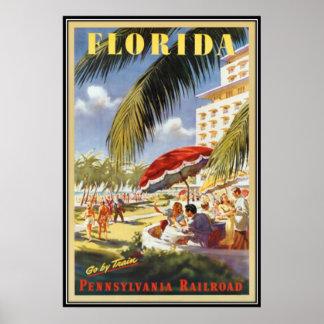 Vintage la Florida, los E.E.U.U. - Póster