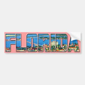 Vintage la Florida Pegatina Para Auto