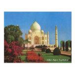 Vintage, la India, Agra, el Taj Mahal Tarjeta Postal