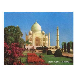 Vintage, la India, Agra, el Taj Mahal Tarjetas Postales