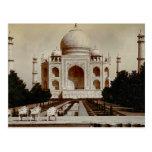 Vintage la India, el Taj Mahal Postal