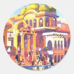Vintage la India Pegatina Redonda