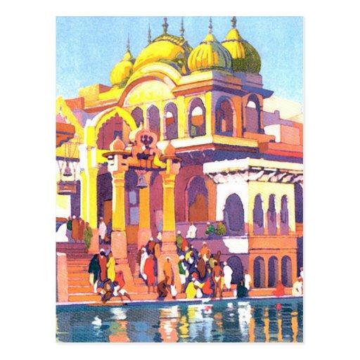 Vintage la India Postal