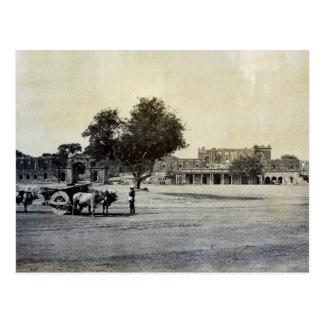 Vintage la India, ruinas de la residencia Lucknow Postales