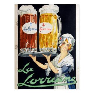 Vintage La Lorraine French Beer Advertising Postcard