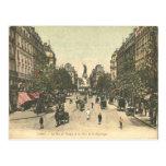 Vintage La Place de la Republique, Paris, France Postcard