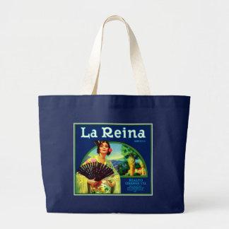 Vintage La Reina Orange Label Jumbo Tote Bag