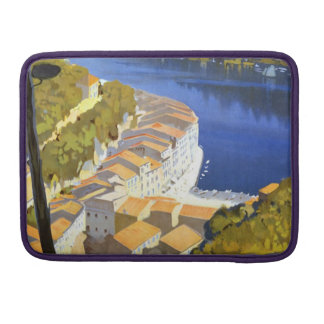 Vintage La Riviera Travel Poster Sleeves For MacBook Pro
