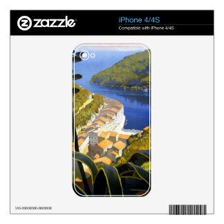 Vintage La Riviera Travel Poster iPhone 4 Decal