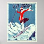 Vintage La Vie Parisienne Ski Posters