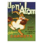 Vintage Label Art Boxing Rabbit, Up n Atom Carrots