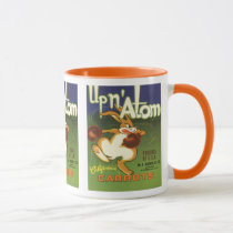 Vintage Label Art Boxing Rabbit, Up n Atom Carrots Mug