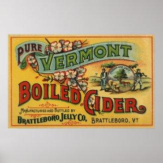 Vintage Label Art; Brattleboro Boiled Cider print